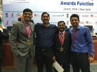 OrthoHeal receiving Gold medal for Top 10 innovative Technology- DST- Lockheed IIGP-2016