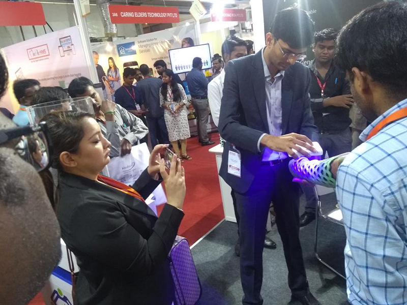 OrthoHeal at Medicall Chennai 2018 showcasing products FlexiOH™ and RizyCure™