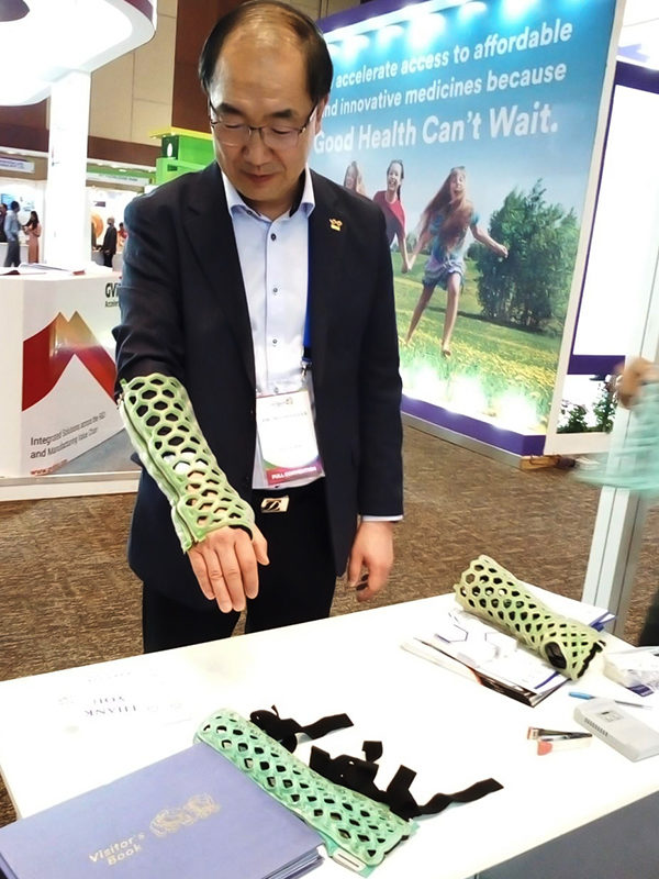 OrthoHeal with its new orthopedic immobilization technology - FlexiOH™ at BioAsia 2019 at HICC, Hyderabad, India.