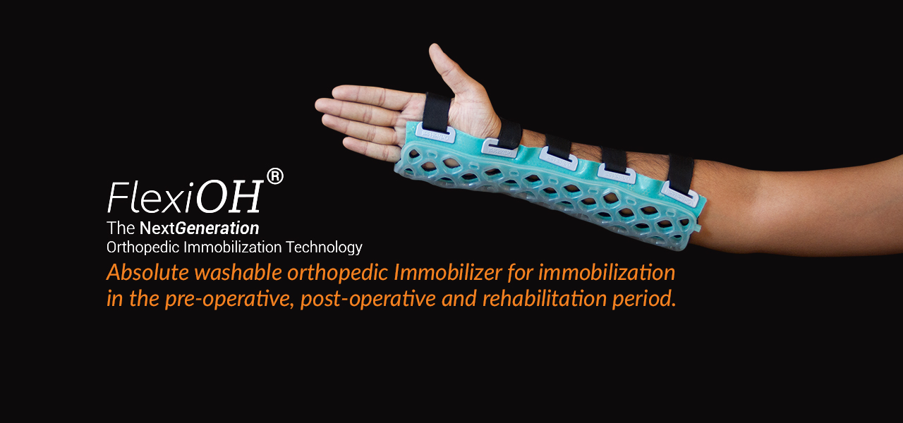 Splint or slab immobilizer slider 01